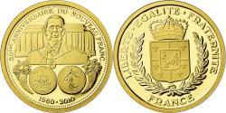 World Coins - France, Medal, 50eme anniversaire du Nouveau Franc, Charles de Gaulle