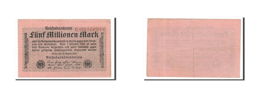 World Coins - Germany, 5 Millionen Mark, 1923, KM:105, 1923-08-20, EF(40-45)