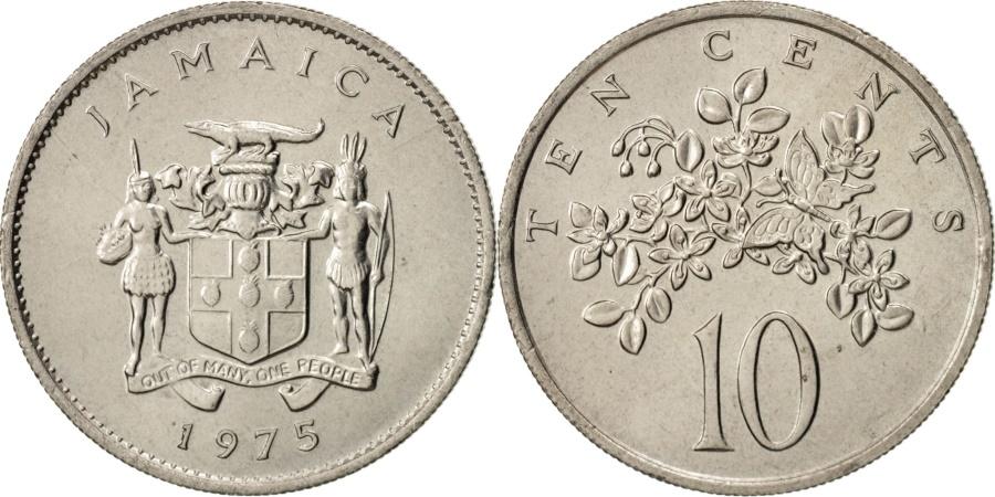 World Coins - Jamaica, Elizabeth II, 10 Cents, 1975, Franklin Mint, USA,