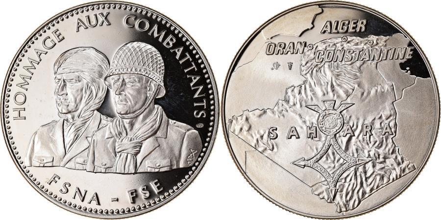 World Coins - France, Medal, Guerre d'Algérie, Hommage aux Combattants,
