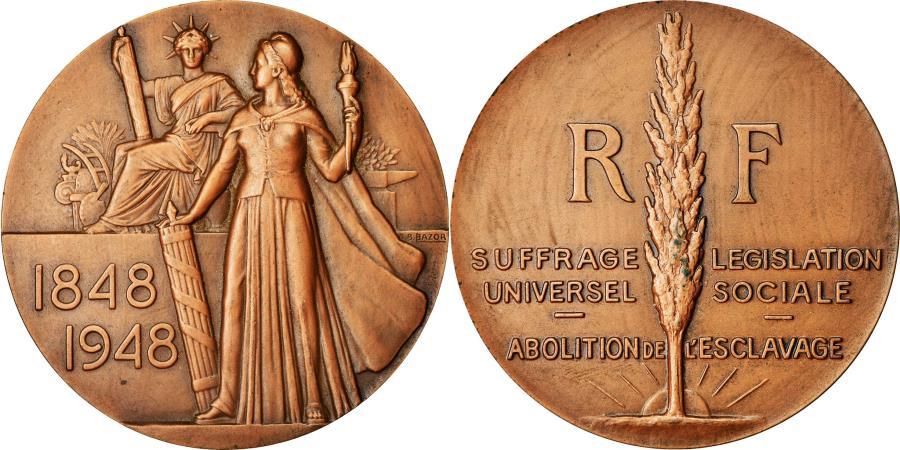 World Coins - France, Medal, Centenaire de la Proclamation de la Seconde République