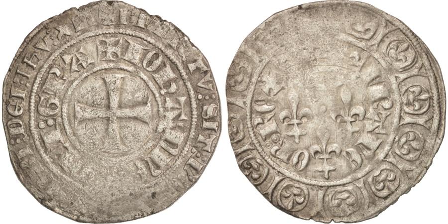 World Coins - France, Jean II le Bon, Gros aux trois lis, , Billon, Duplessy:307A
