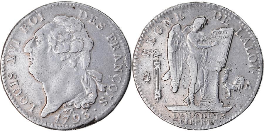 World Coins - Coin, France, Écu de 6 livres françois, ECU, 6 Livres, 1793, Paris,