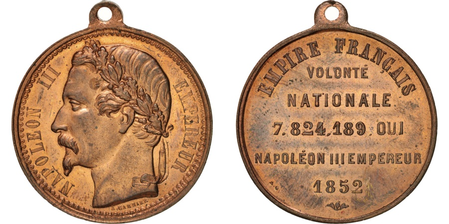 World Coins - France, Napoléon III proclamation, History, Medal, 1852, , Garnier