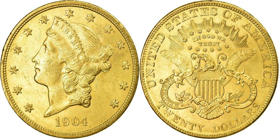 US Coins - Coin, United States, Liberty Head, $20, Double Eagle, 1904, U.S. Mint