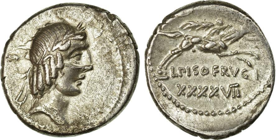 Ancient Coins - Coin, Calpurnia, Denarius, Rome, AU(50-53), Silver