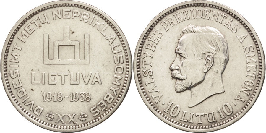 World Coins - Lithuania, 10 Litu, 1938, , Silver, KM:84