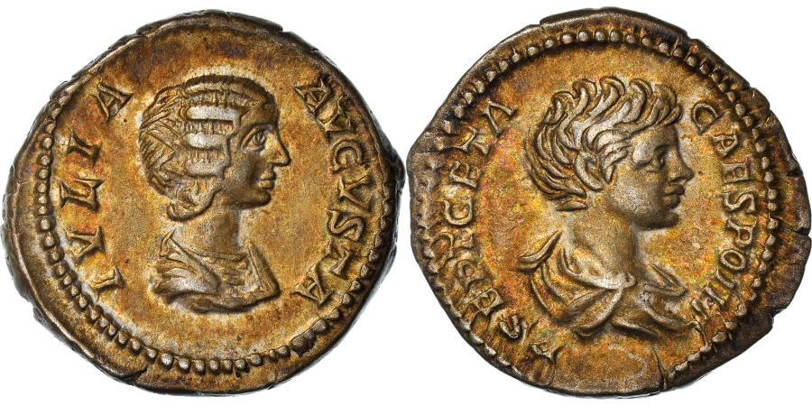 Ancient Coins - Coin, Julia Domna with Geta, Denarius, 201-205, Rome, , Silver, RIC:571