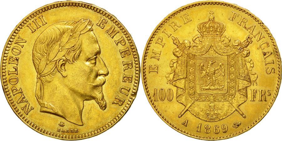 World Coins - Coin, France, Napoleon III, Napoléon III, 100 Francs, 1869, Paris, EF(40-45)