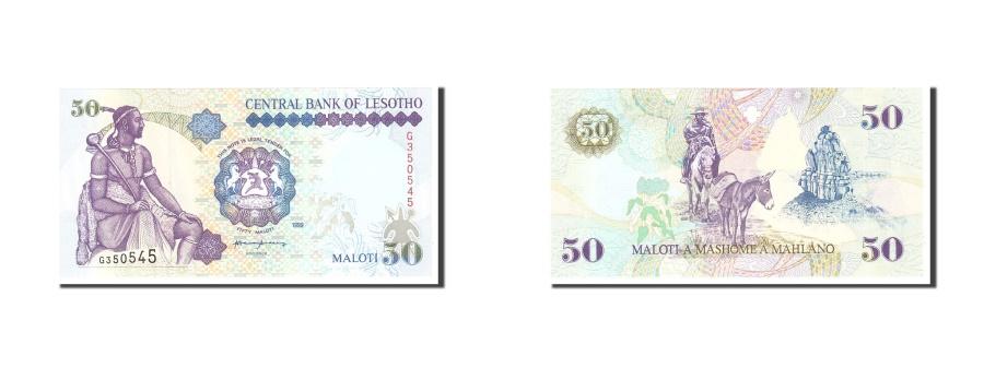 World Coins - Lesotho, 50 Maloti, 1999, KM:17c, Undated, UNC(65-70)