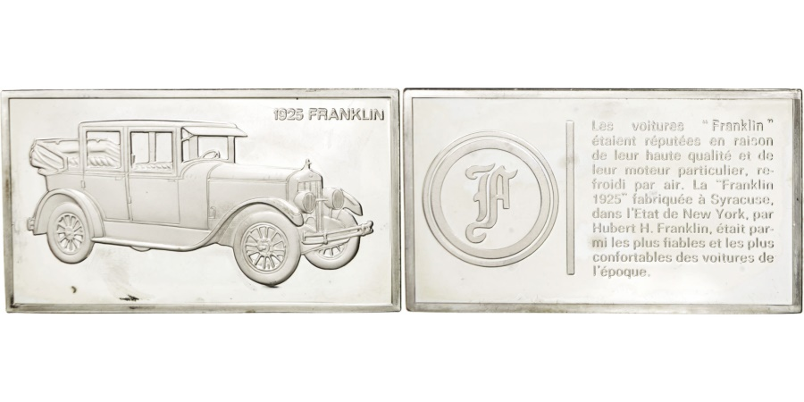 World Coins - FRANCE, Automobile, French Fifth Republic, Medal, , Silver, 32, 65.70