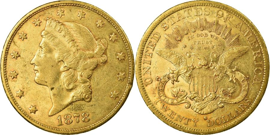 US Coins - Coin, United States, Liberty Head, $20, Double Eagle, 1878, San Francisco