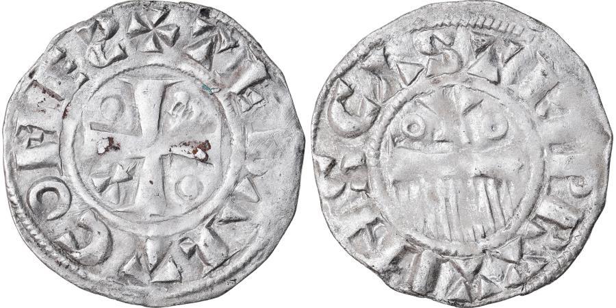World Coins - Coin, France, Champagne, Thibaut II, Denarius, Provins, , Silver