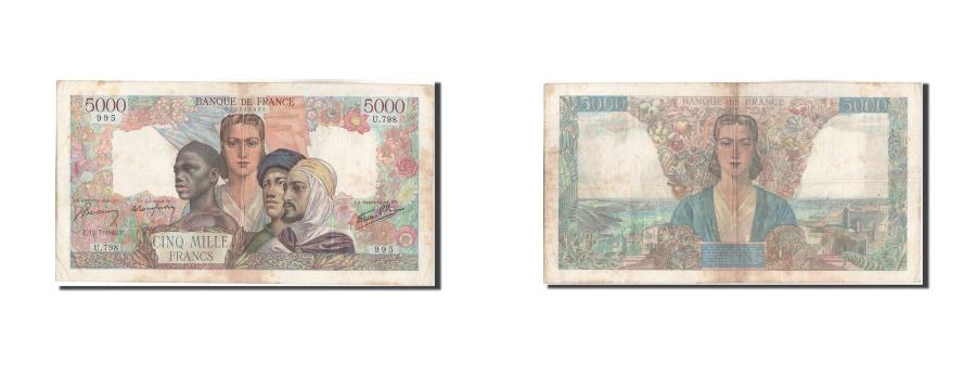 World Coins - France, 5000 Francs, 5 000 F 1942-1947 ''Empire Français'', 1945, KM:103c, 1...