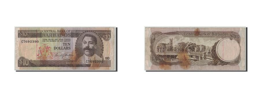 World Coins - Barbados, 10 Dollars, KM:33a, VG(8-10)