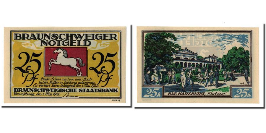 World Coins - Banknote, Germany, Braunschweig, 25 Pfennig, personnage 1, 1921, 1921-05-01