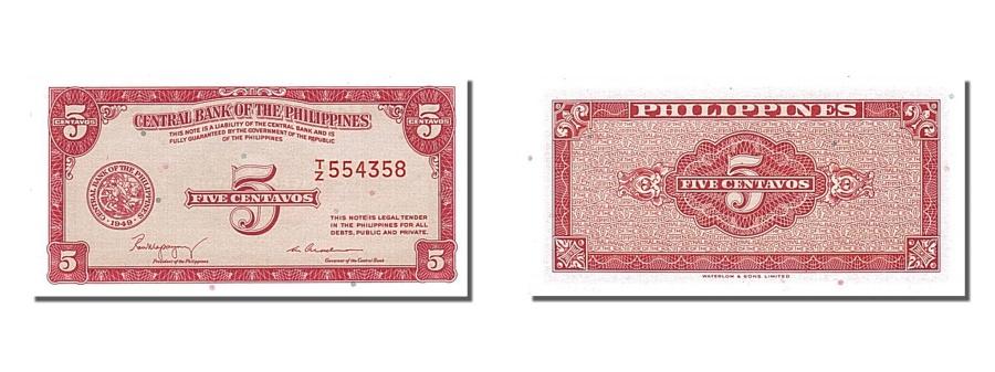 World Coins - Philippines, 5 Centavos, KM #125a, UNC(65-70), T/Z 554358