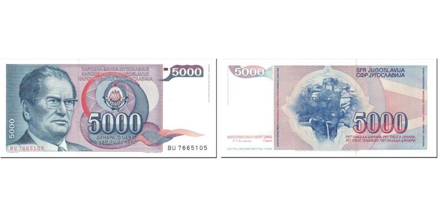 Paper Money UNC YUGOSLAVIA 1985-5 000 DINARS