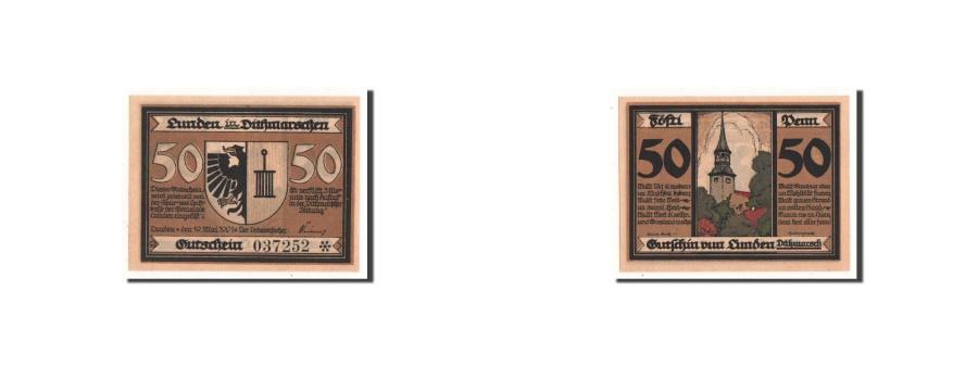 World Coins - Germany, Lunden, 50 Pfennig, Ecusson, 1921, 1921-05-19, UNC(65-70), Mehl:845