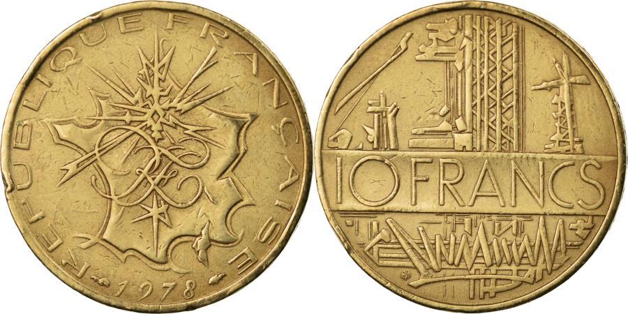 World Coins - Coin, France, Mathieu, 10 Francs, 1978, , Nickel-brass, KM:940