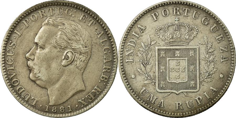 World Coins - Coin, INDIA-PORTUGUESE, GOA, Luiz I, Rupia, 1881, , Silver, KM:312