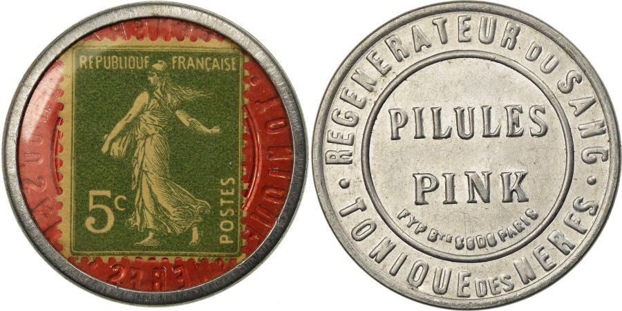 World Coins - Coin, France, Pilules Pink, 5 Centimes, Timbre-Monnaie, , Aluminium