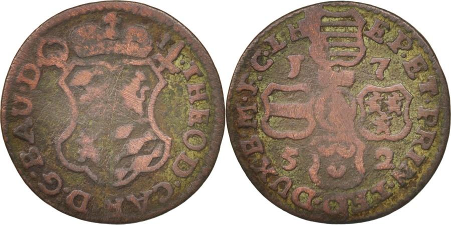 World Coins - LIEGE, John Theodore, Liard, 1752, Liege, , Copper, KM:155