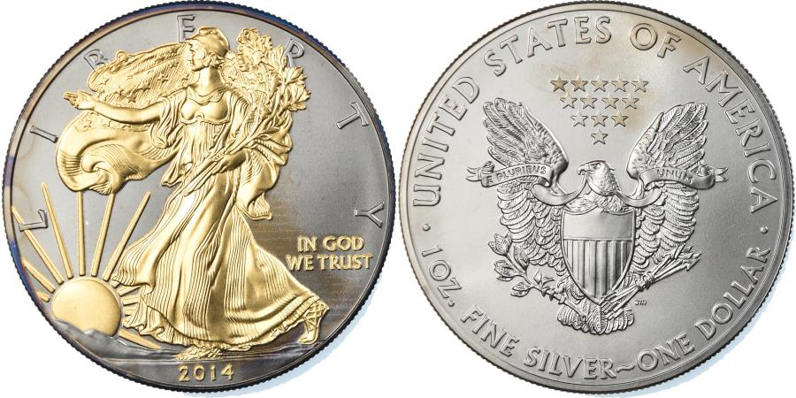 US Coins - Coin, United States, Dollar, 2014, U.S. Mint, , Silver