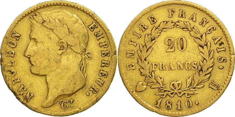 France napol on i 20 francs 1810 torino vf 30 35 for Coin torino