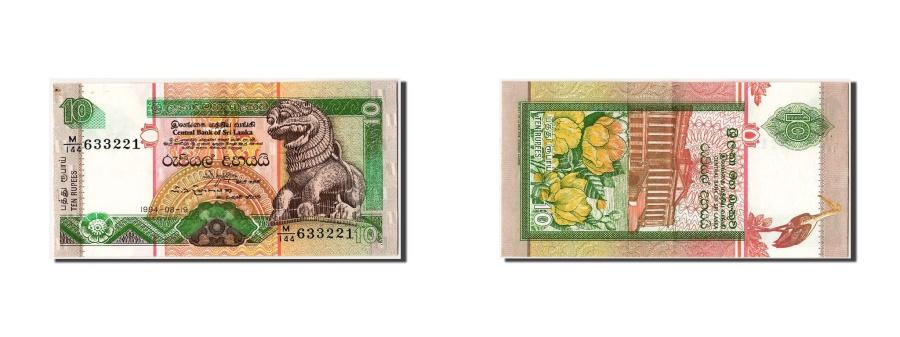 World Coins - Sri Lanka, 10 Rupees, 1994, KM #102c, 1994-08-19, AU(55-58), M/144 633221