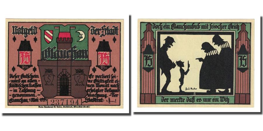 World Coins - Banknote, Germany, Glauchau Stadt, 75 Pfennig, personnage, 1921, 1921-05-01