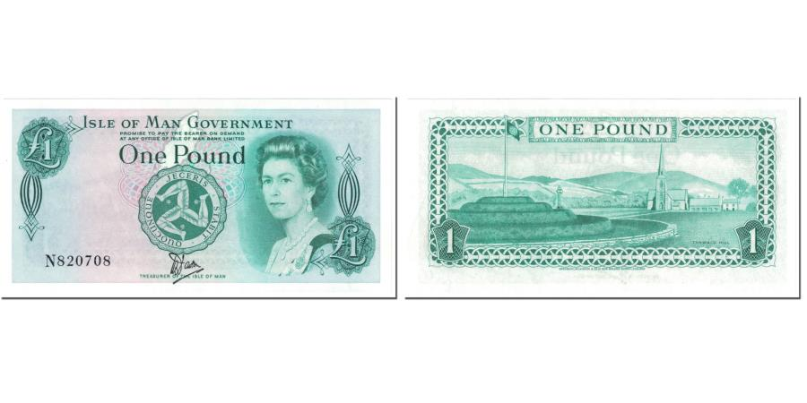 World Coins - Banknote, Isle of Man, 1 Pound, 1983, Undated (1983), KM:38a, UNC(65-70)