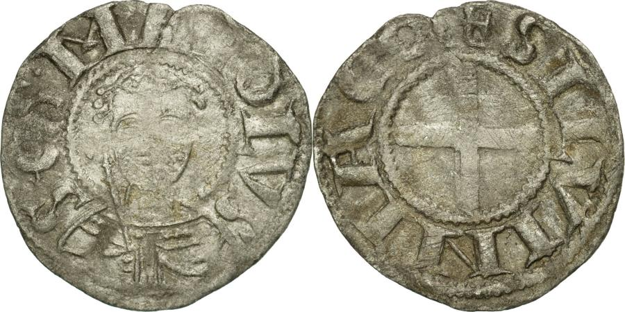 World Coins - Coin, France, Bourbonnais, Denarius, Souvigny, , Silver, Boudeau:358