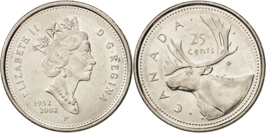 World Coins - Canada, Elizabeth II, 25 Cents, 2002, Royal Canadian Mint, , Nickel