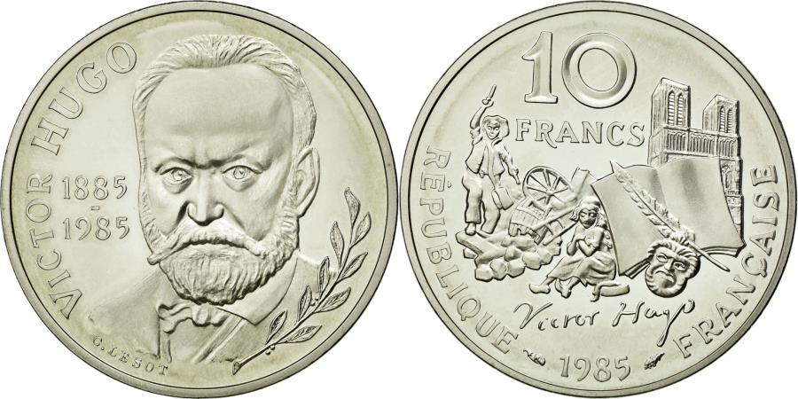 World Coins - Coin, France, 10 Francs, 1985, MS(65-70), Silver, KM:956a, Gadoury:819
