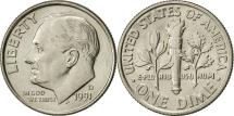 Us Coins - United States, Roosevelt Dime, Dime, 1991, U.S. Mint, Denver, AU(55-58)