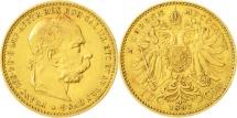 World Coins - Austria, Franz Joseph I, 10 Corona, 1897, EF(40-45), Gold, KM:2805
