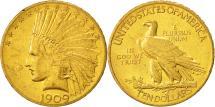 Us Coins - United States, Indian Head, $10, 1909, Philadelphia, AU(55-58), Gold, KM:130