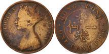World Coins - Hong Kong, Victoria, Cent, 1866, VF(30-35), Bronze, KM:4.1