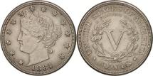 Us Coins - United States, Liberty Nickel, 5 Cents, 1884, U.S. Mint, Philadelphia