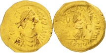 Ancient Coins - Justin II, Tremissis, 565-578 AD, Constantinople, Gold, Sear:353