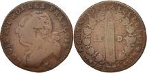 World Coins - France, 12 deniers françois, 12 Deniers, 1793, Bayonne, F(12-15), Bronze,KM600.9