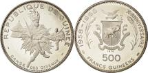 World Coins - Coin, Guinea, 500 Francs, 1970, MS(63), Silver, KM:16