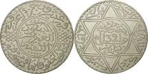 Morocco, 'Abd al-Aziz, Rial, 10 Dirhams, 1903, Paris, EF(40-45), Silver