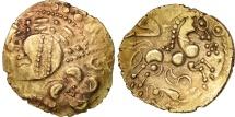 Aulerci Eburovices, Hemistater, AU(50-53), Electrum, Delestrée:2395var