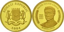 Somalia, 50 Shillings, 2004, Julius Caesar, MS(65-70), Gold