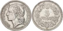 France, Lavrillier, 5 Francs, 1945, Castelsarrasin, EF(40-45),Aluminum,KM 888b.3