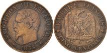 France, Napoleon III, 5 Centimes, 1855, Paris, VF(30-35), KM 777.1
