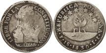 World Coins - Bolivia, Sol, 1830, Potosi, VG(8-10), Silver, KM:94a