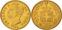 Italy, Umberto I, 20 Lire, 1888, Rome, Gold, KM:21